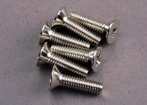 Traxxas Screws, 4x15mm countersunk machine (6)