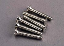 Traxxas Screws, 4x25mm countersunk machine (6)