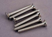 Traxxas Screws, 4x30mm countersunk machine (6)