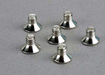 Traxxas Screws, 4x6mm countersunk machine (6)