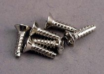 Traxxas Screws, 3x10mm countersunk self-tapping (6)