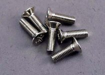Traxxas Screws, 3x10mm countersunk machine (6)