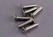 Traxxas Screws, 3x12mm countersunk machine (6)