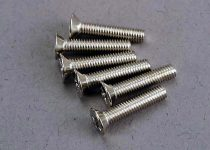 Traxxas Screws, 3x15mm countersunk machine (6)