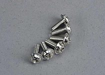 Traxxas Motor screws (3x8mm washerhead machine) (6)