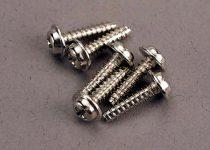 Traxxas Screws, 3x12mm washerhead self-tapping (6)