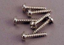 Traxxas Screws, 3x18mm washerhead self-tapping (6)