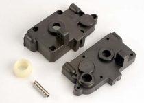 Traxxas Gearbox halves (l&r) w/ idler gear shaft