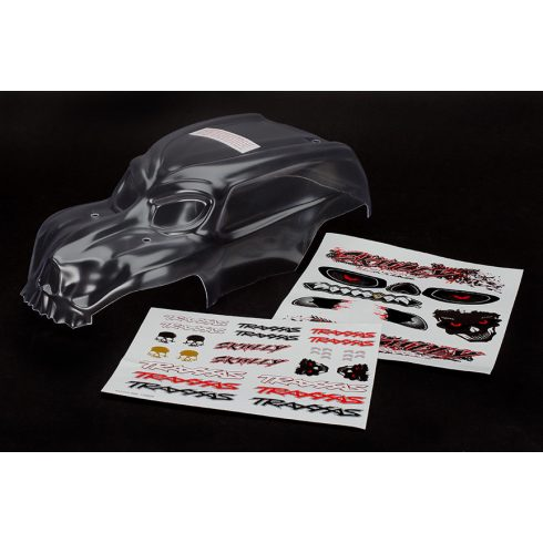 Traxxas Body, Skully®, heavy duty (clear, requires painting)/ decals
