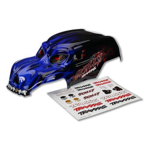 Traxxas Body, Skully®, blue, heavy duty/ decals