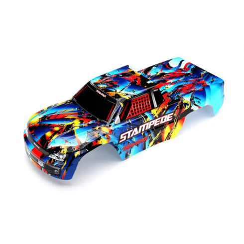 Traxxas Body, Stampede®, Rock n' Roll (painted, decals applied)