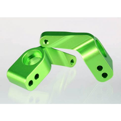 Traxxas Stub axle carriers, Rustler®/Stampede®/Bandit (2), 6061-T6 aluminum (green-anodized)/ 5x11mm ball bearings (4)