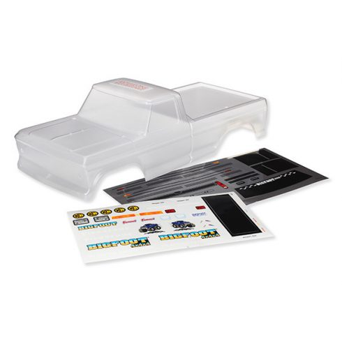 Traxxas Body, Bigfoot® No. 1, Officially Licensed replica (clear, requires painting)/ window masks/ decal sheet
