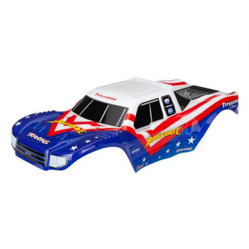 Traxxas Body, Bigfoot® Red, White, & Blue, Officially Licensed replica (painted, decals applied)