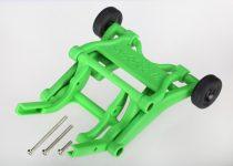 Traxxas Wheelie bar, assembled (green) (fits Stampede®, Rustler®, Bandit series)