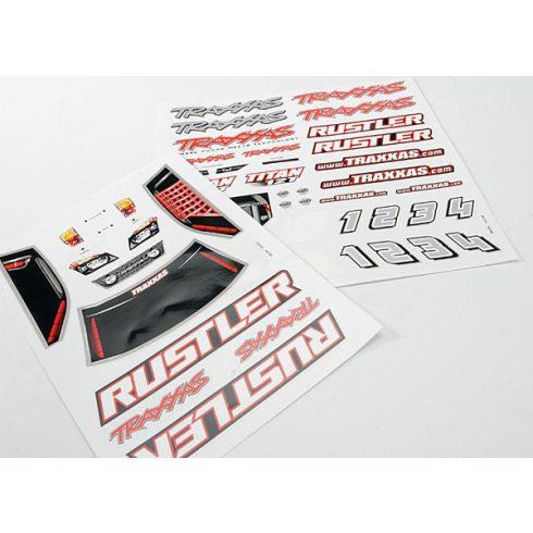 Traxxas Decal sheets, Rustler®