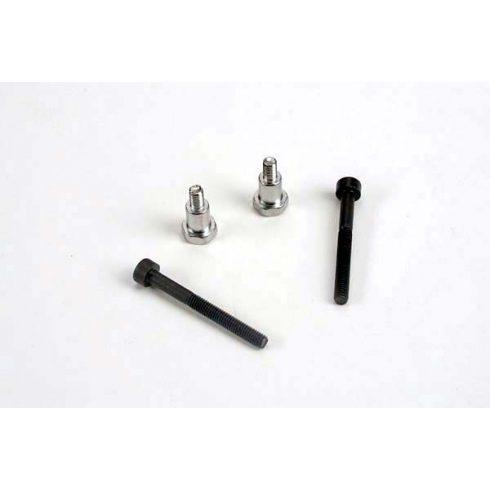 Traxxas Shoulder screws, steering bellcranks (3x30mm cap-head machine) (2)/ draglink shoulder screws (chrome) (2)