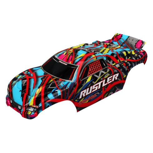 Traxxas Body, Rustler®, Hawaiian graphics (painted, decals applied)