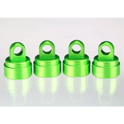 Traxxas  Shock caps, aluminum (green-anodized) (4) (fits all Ultra Shocks)