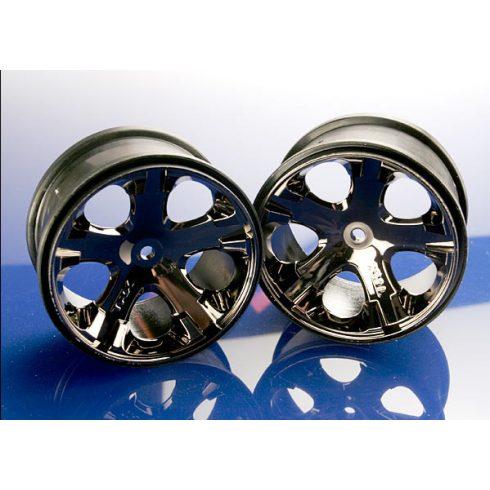 "Traxxas Wheels, All-Star 2.8"" (black chrome) (2WD electric rear)"