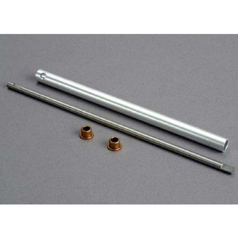 Traxxas Driveshaft/ stuffing tube/bushings (self-lubricating) (2)