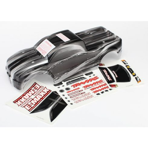 Traxxas Body, E-Maxx® Brushless, ProGraphix (replacement for painted body. Graphics are printed, requires paint & final color application)/decal sheet