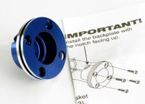 Traxxas Backplate, machined aluminum (blue-anodized)(requires electric bump starter) (not for use with Nitro Stampede®)