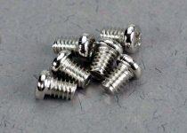 Traxxas Low speed spray bar screws, 2x4mm roundhead machine screws (6)
