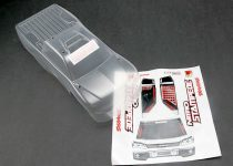 Traxxas Body, Nitro Stampede® (clear, requires painting)/window, grille, lights decal sheet