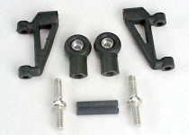 Traxxas Control arms, upper (2)/ upper rod ends (with ball joints installed) (2)/ 4x20mm set (grub) screws (2)