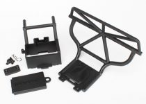 Traxxas Bumper (rear)/ battery box/ battery box cover/ switch cover/ body clip/ 3x15mm RM (2)/ 3x12mm CM (2)