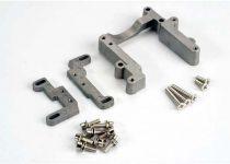 Traxxas Engine mount, 2 piece, aluminum (w/ screws) (N. Rustler®/Sport)