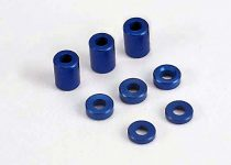 Traxxas  Blue-anodized, aluminum spacers (3x6x8mm) (3)/ (3x6x1.5mm) (2)/ 3x6x2.5mm) (4)
