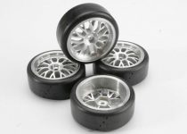 Traxxas  Tires, Pro-Trax on-road (medium compound with contoured inserts) (mounted and glued to part #4872 wheels) (2 left, 2 right)