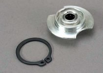 Traxxas Gear hub, 1st/ one-way bearing (installed)/ snap ring