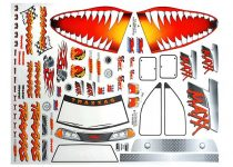 Traxxas Decal sheet, Jaws T-Maxx®