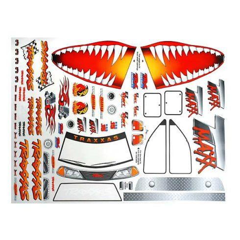 Traxxas Decal sheet, Jaws T-Maxx®