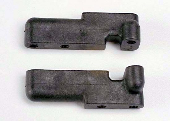 Traxxas Servo mounts, steering/ shift (f&r) (black)