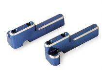 Traxxas Servo mounts, steering/ shift (machined aluminum) (blue) (f&r)/ machine screws (8)