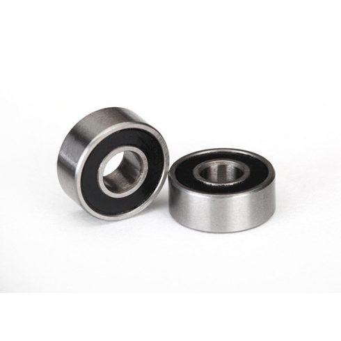 Traxxas Ball bearings, black rubber sealed (4x10x4mm) (2)