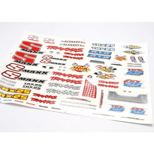 Traxxas Decal sheet, Stadium Maxx® (includes window/grille decals)