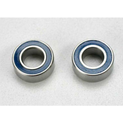 Traxxas  Ball bearings, blue rubber sealed (5x10x4mm) (2)