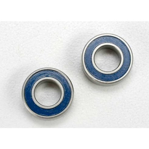 Traxxas Ball bearings, blue rubber sealed (6x12x4mm) (2)