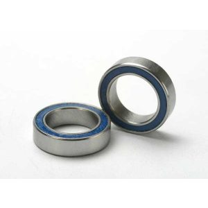 Traxxas Ball bearings, blue rubber sealed (10x15x4mm) (2)