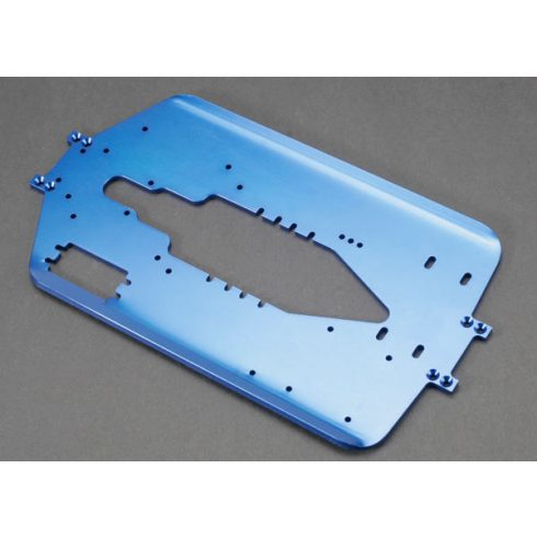 Traxxas  Chassis, T-Maxx®, long wheelbase (extended 30mm) (6061-T6 aluminum, 4.0mm) (blue anodized)