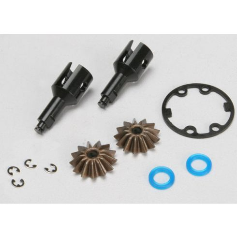 Traxxas Drive cups, inner (2) (Jato®) (for steel constant-velocity driveshafts)/ differential spider gears (2)/ gaskets, hardware