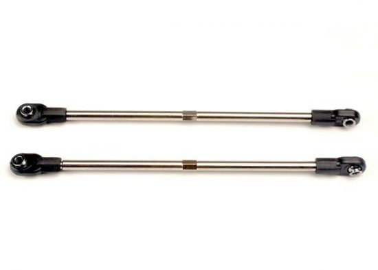 Traxxas Turnbuckles, 116mm (rear toe control links) (2) (includes installed rod ends and hollow ball connectors)