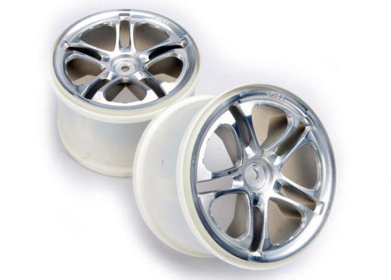 "Traxxas Wheels, SS (split spoke) 3.8"" (satin) (2) (fits Revo®/Maxx® series)"
