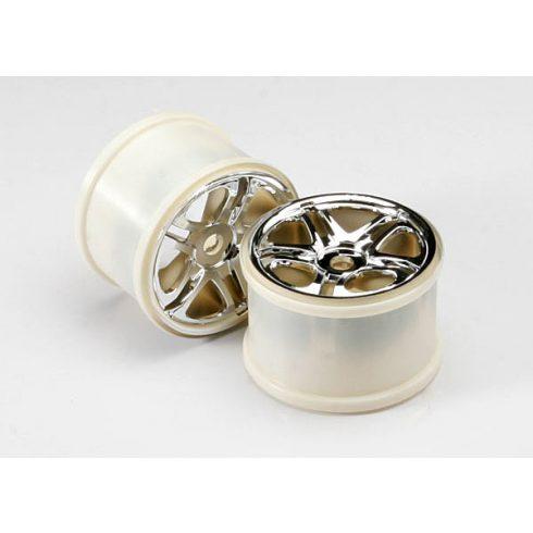 "Traxxas Wheels, SS (split spoke) 3.8"" (chrome) (2) (use with 17mm splined wheel hubs & nuts, part #5353X) (fits Revo®/Maxx® series)"