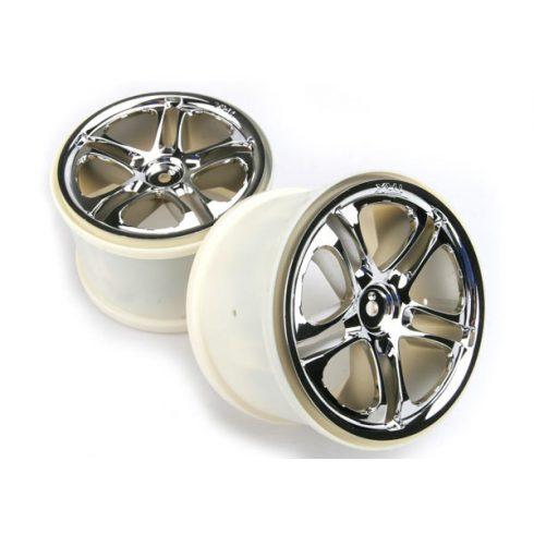 "Traxxas Wheels, SS (split spoke) 3.8"" (chrome) (2) (fits Revo®/Maxx® series)"